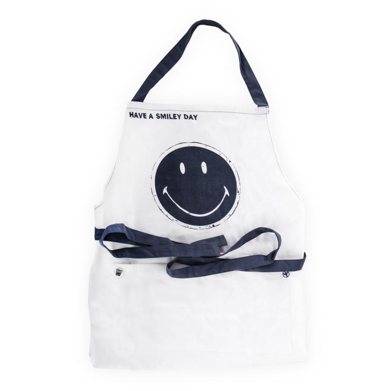 Tablier De Cuisine Smiley Blanc Et Bleu Serax A Prix Degriffe
