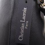 Sac besace simili cuir noir femme CHRISTIAN LACROIX marque pas cher prix dégriffés destockage