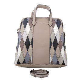 Grand sac à main simili cuir beige détails triangles femme CHRISTIAN LACROIX marque pas cher prix dégriffés destockage
