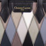 Sac cabas motifs géométrique femme CHRISTIAN LACROIX marque pas cher prix dégriffés destockage