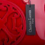 Sac à main rouge verni femme CHRISTIAN LACROIX marque pas cher prix dégriffés destockage