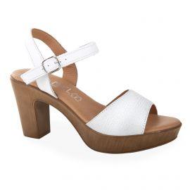 Sandales à talons en cuir Femme ISSA MIEL