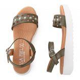 Sandales cloutés à plateforme Femme ISSA MIEL marque pas cher prix dégriffés destockage