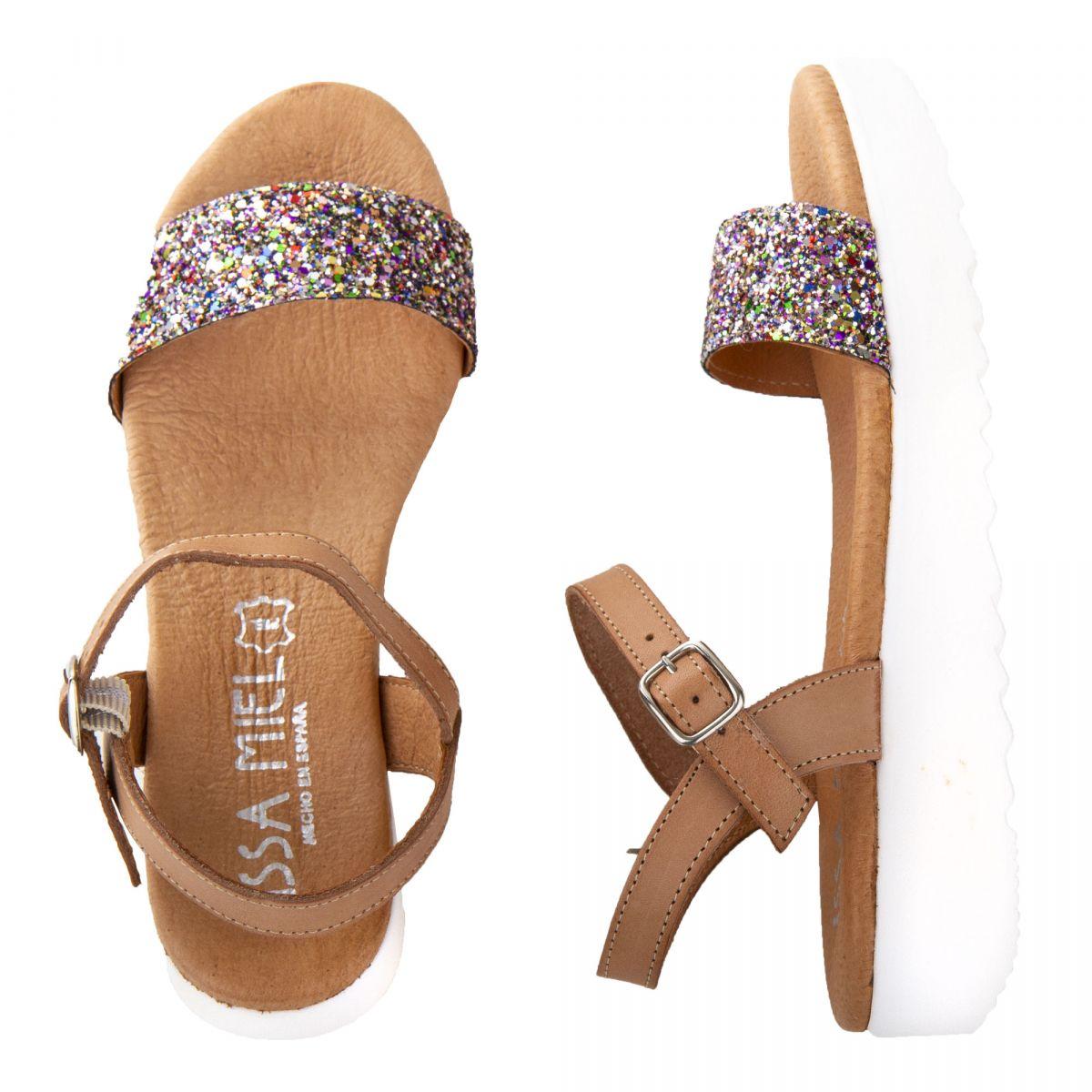 Sandales à paillettes à plateforme blanche Femme ISSA MIEL à
