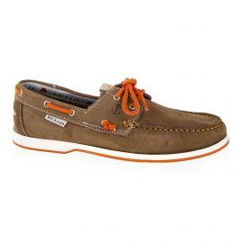 Chaussures bateau à lacets en cuir marron homme ORLANDO marque pas cher prix dégriffés destockage
