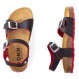 Sandales en cuir bi-colores garçon DKR marque pas cher prix dégriffés destockage