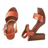 Sandales à talons en bois VERONA femme LES TROPEZIENNES marque pas cher prix dégriffés destockage