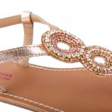 Sandales en cuir à bride fantaisie OLYMPIE femme LES TROPEZIENNES marque pas cher prix dégriffés destockage