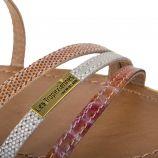 Sandales mix de cuirs BALISE femme LES TROPEZIENNES marque pas cher prix dégriffés destockage