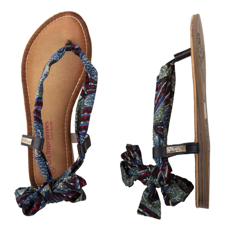Sandales en tissu GEMMA femme LES TROPEZIENNES marque pas cher prix dégriffés destockage