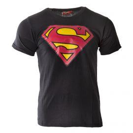 Tee shirt manches courtes logo superman tricolore homme