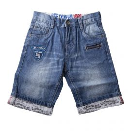 Bermuda en jean zip garçon LEE COOPER marque pas cher prix dégriffés  destockage e337b9cd535