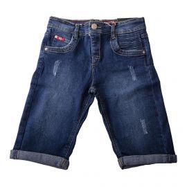 Bermuda en jean brut détails déchirés garçon LEE COOPER marque pas cher prix dégriffés destockage
