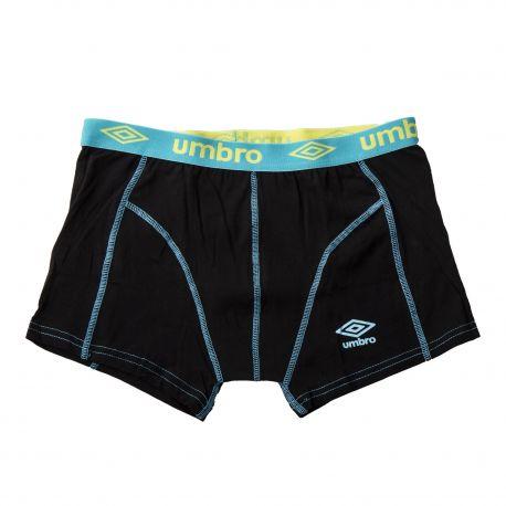 Boxer noir coutures apparentes homme UMBRO marque pas cher prix dégriffés destockage