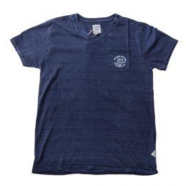 Tee shirt col V bleu homme VON DUTCH marque pas cher prix dégriffés destockage