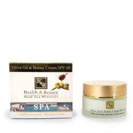 Crème visage 50ml huile d'olive et miel Health and Beauty marque pas cher prix dégriffés destockage
