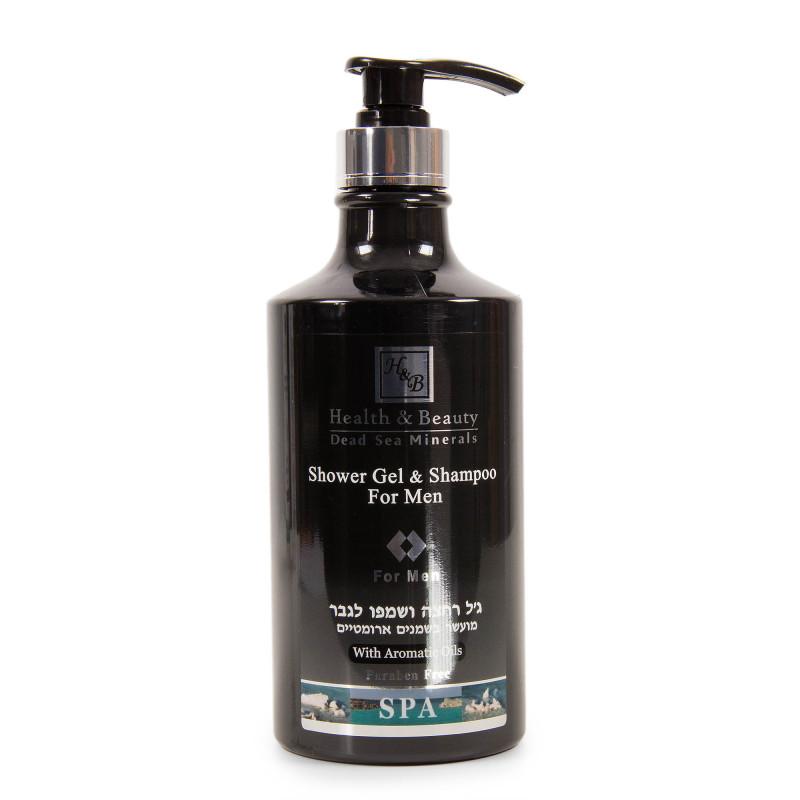 Shampoing et gel douche homme 780ml Health and Beauty marque pas cher prix dégriffés destockage