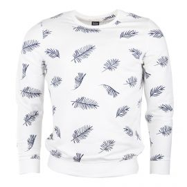 Sweat blanc motif feuille homme RED SOUL