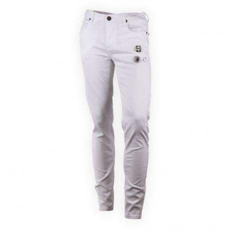 Pantalon en toile blanc homme RED SOUL marque pas cher prix dégriffés destockage