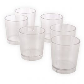Lot de 6 verres en plastique transparent GUZZINI