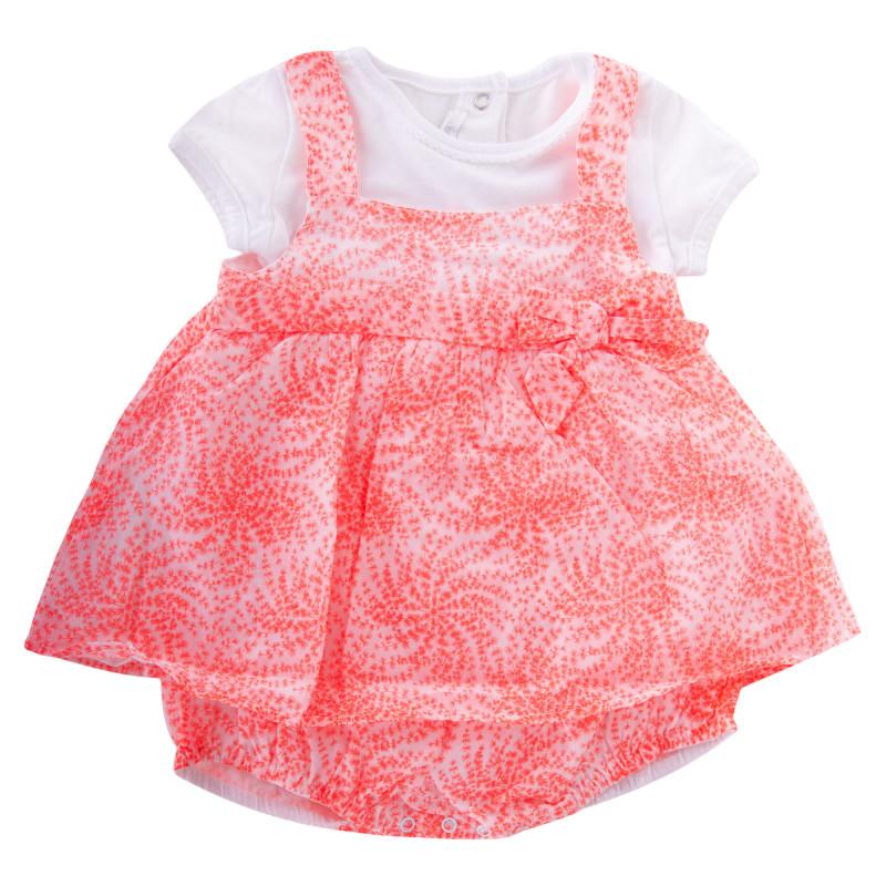 Ensemble tee shirt et combi rose et blanc bébé ABSORBA marque pas cher prix dégriffés destockage