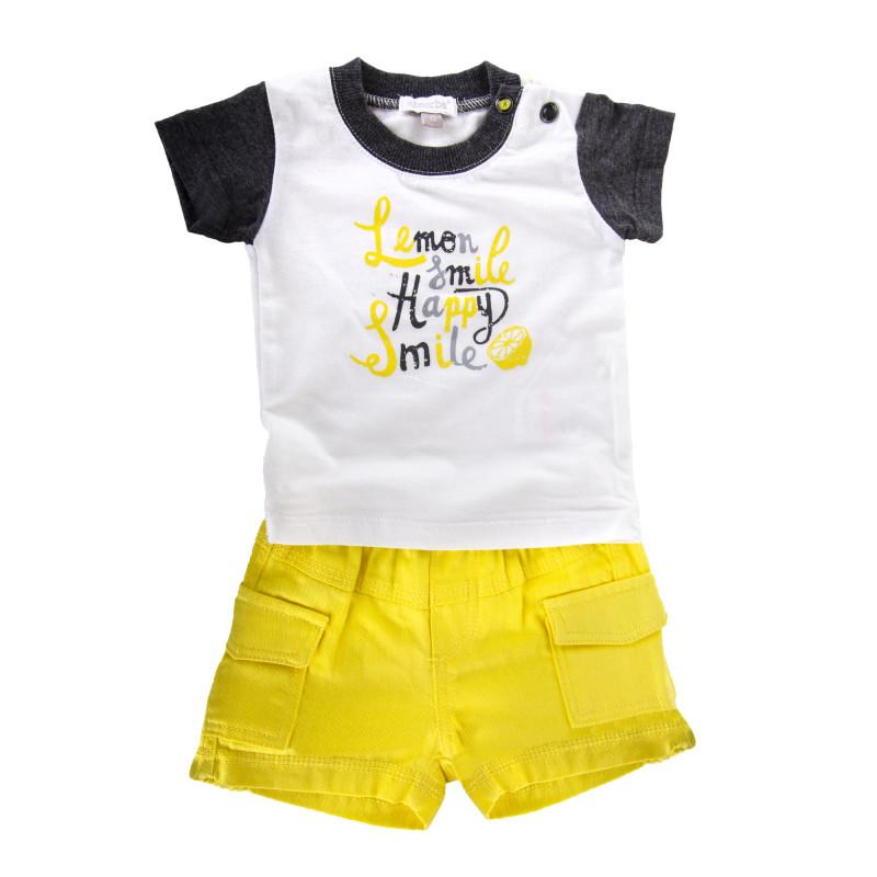 Ensemble tee shirt et short bébé ABSORBA marque pas cher prix dégriffés destockage