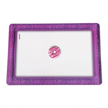 Set de table violet et blanc donnut GUZZINI marque pas cher prix dégriffés destockage