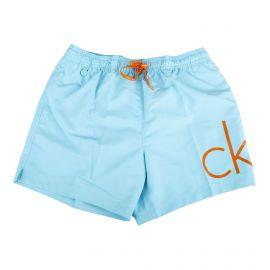 Short de bain bleu détail orange homme CALVIN KLEIN