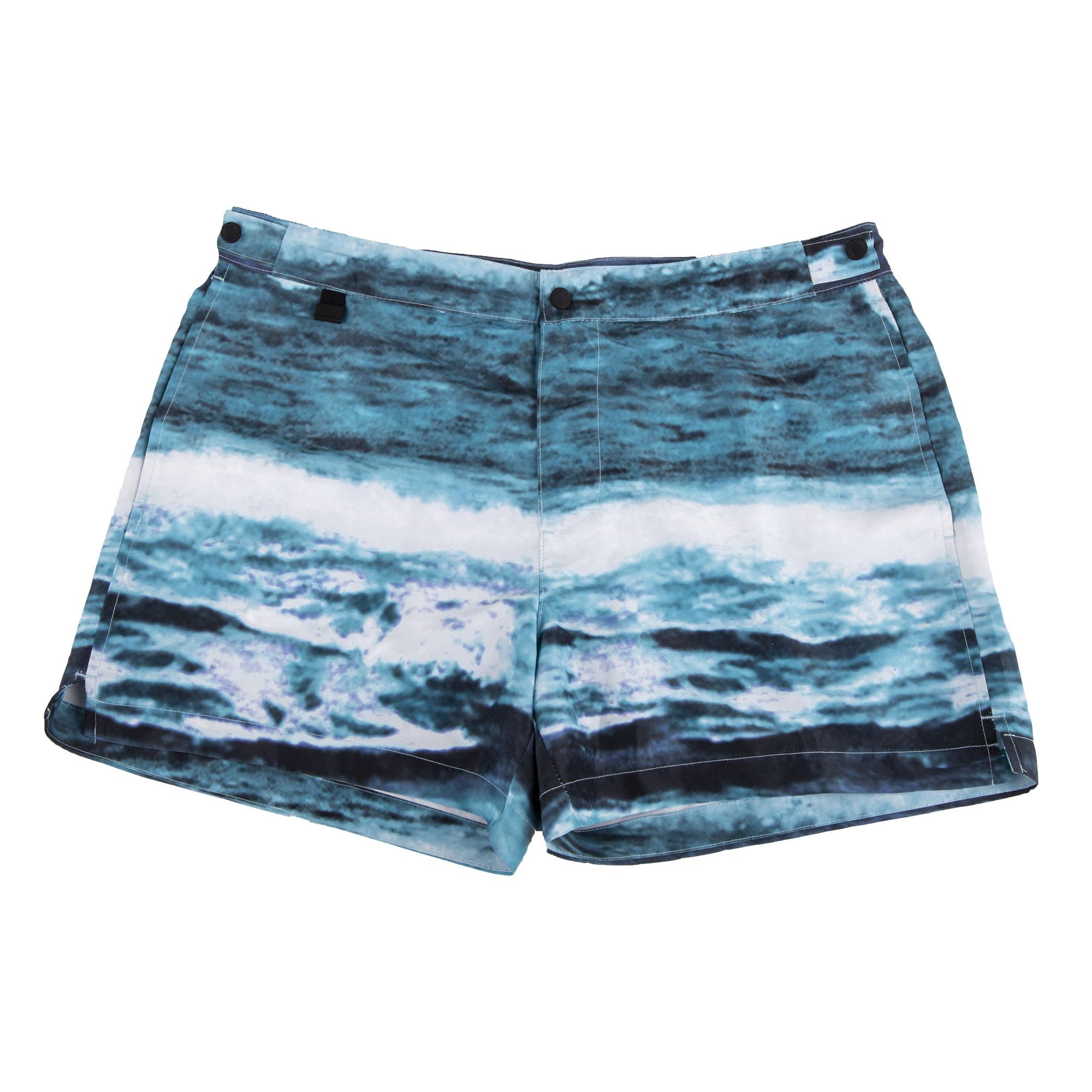 3b76360b63d Short de bain bleu motif mer homme CALVIN KLEIN à prix dégriffé !