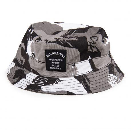 Bob camouflage gris noir et blanc homme ELEVEN PARIS marque pas cher prix dégriffés destockage