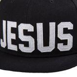 Casquette plate noire Jesus homme ELEVEN PARIS marque pas cher prix dégriffés destockage