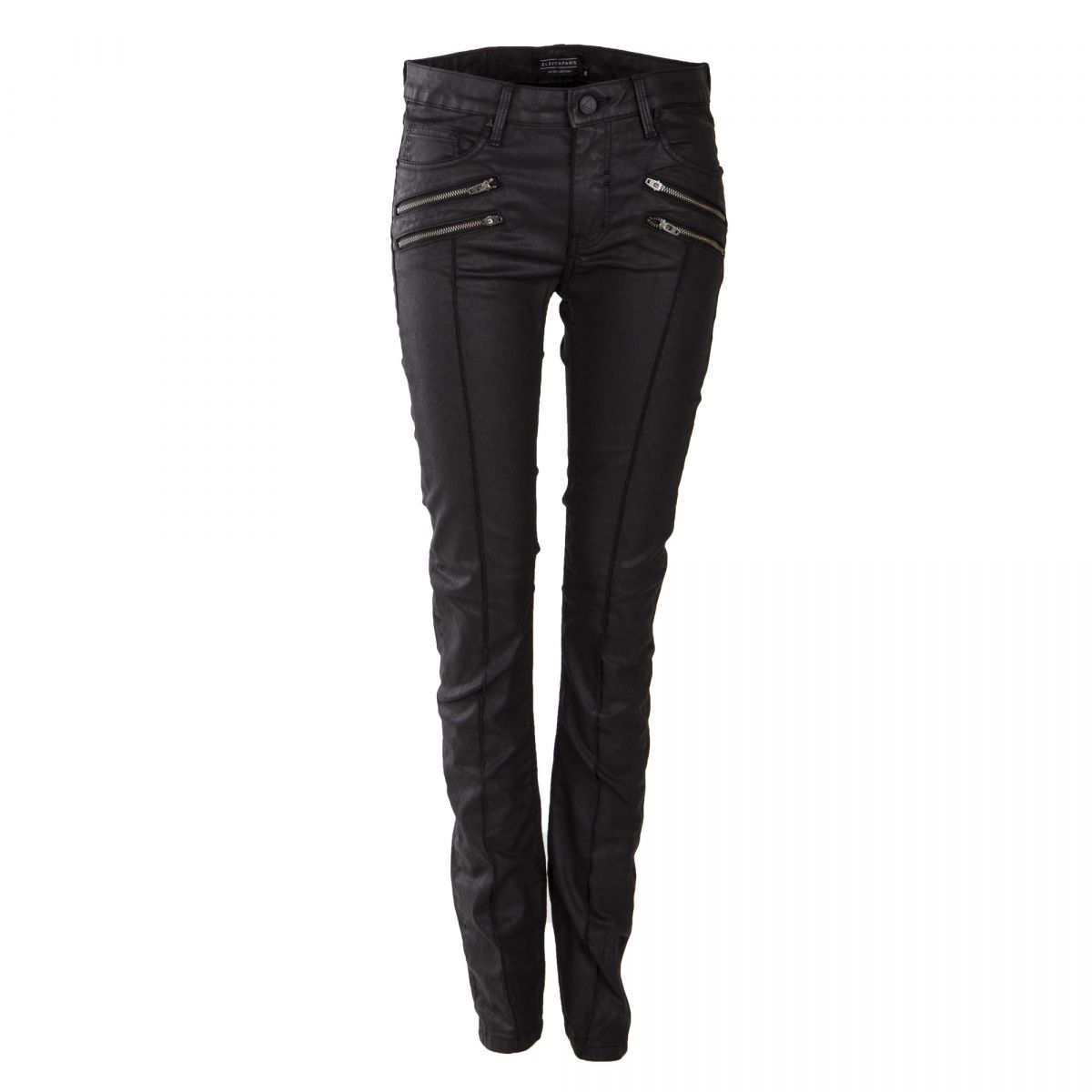 75240728cce Pantalon slim enduit noir femme ELEVEN PARIS marque pas cher prix dégriffés  destockage ...