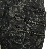 Pantalon en toile slim à motifs et zip femme ELEVEN PARIS marque pas cher prix dégriffés destockage