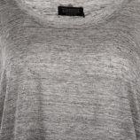 Tee shirt manches 3/4 en lin gris femme ELEVEN PARIS marque pas cher prix dégriffés destockage
