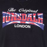 Tee shirt à manches courtes floqué homme LONSDALE marque pas cher prix dégriffés destockage