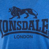 Tee shirt à manches courtes chiné logo homme LONSDALE marque pas cher prix dégriffés destockage