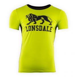 Tee shirt de sport vert fluo floqué homme LONSDALE marque pas cher prix dégriffés destockage
