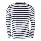 Tee shirt rayé tête de mort homme LITTLE MARCEL marque pas cher prix dégriffés destockage