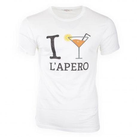 Tee shirt à manches courtes slogan homme FABULOUS ISLAND marque pas cher prix dégriffés destockage