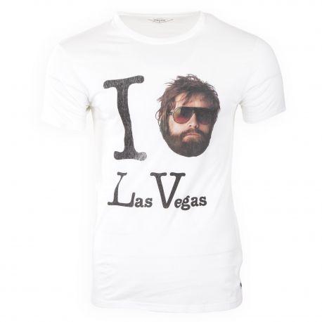 Tee shirt à manches courtes slogan Las Vegas homme FABULOUS ISLAND marque pas cher prix dégriffés destockage