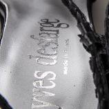 Sandales compensées en cuir tressé femme YVES DESFARGE marque pas cher prix dégriffés destockage