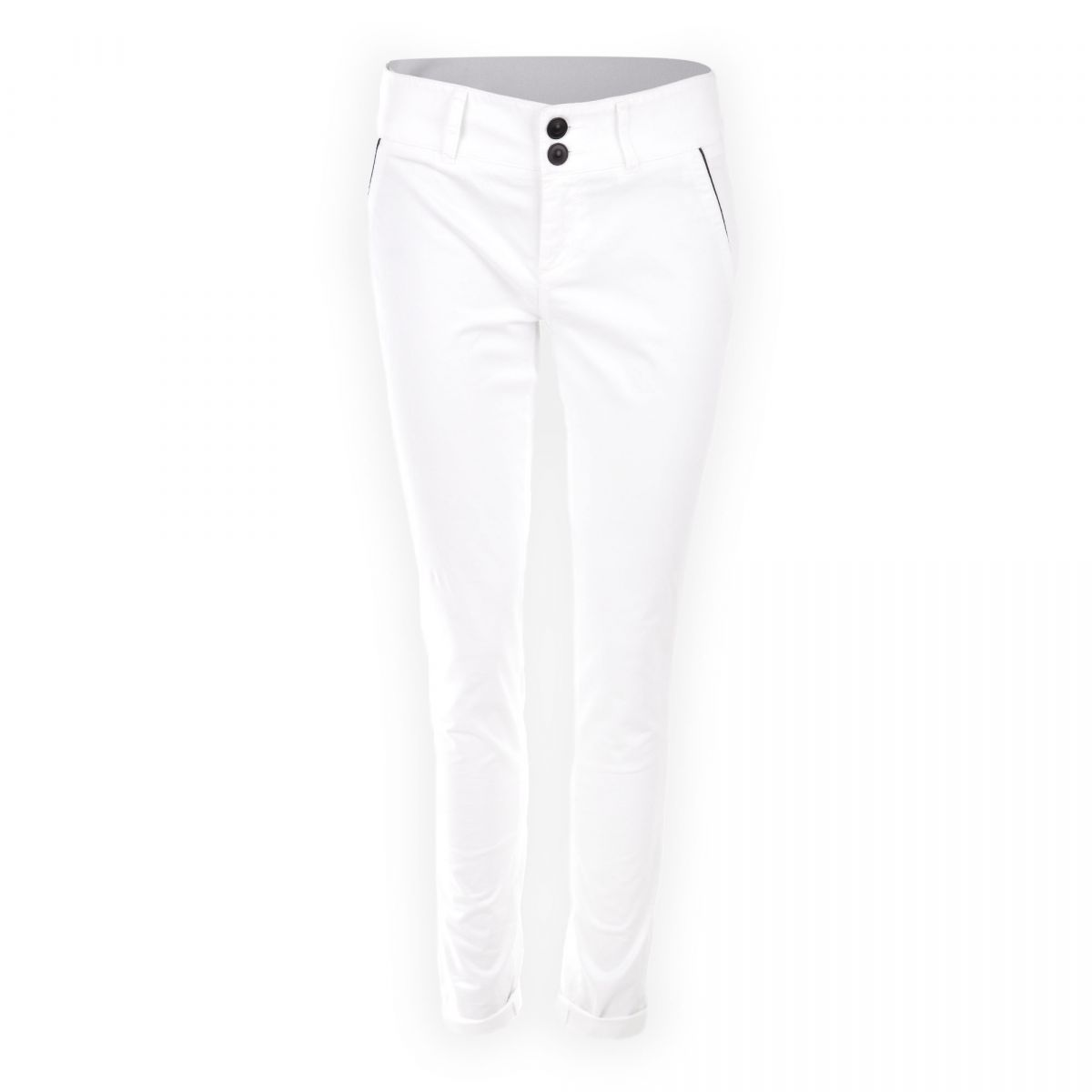 On Femme Coton Chino Prix En You Fluide À Blanc Coupe Pantalon wxgq0Za1