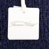 Pull en maille coton bleu marine femme AMERICAN VINTAGE marque pas cher prix dégriffés destockage