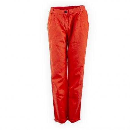 Pantalon en toile orange femme AMERICAN VINTAGE marque pas cher prix dégriffés destockage