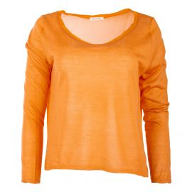 Pull à manches longues coton et soie femme AMERICAN VINTAGE marque pas cher prix dégriffés destockage