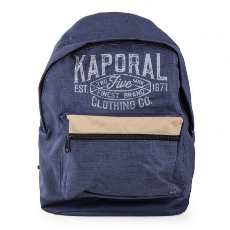 Grand sac à dos bleu jean enfant KAPORAL marque pas cher prix dégriffés  destockage 71e5ee6a057