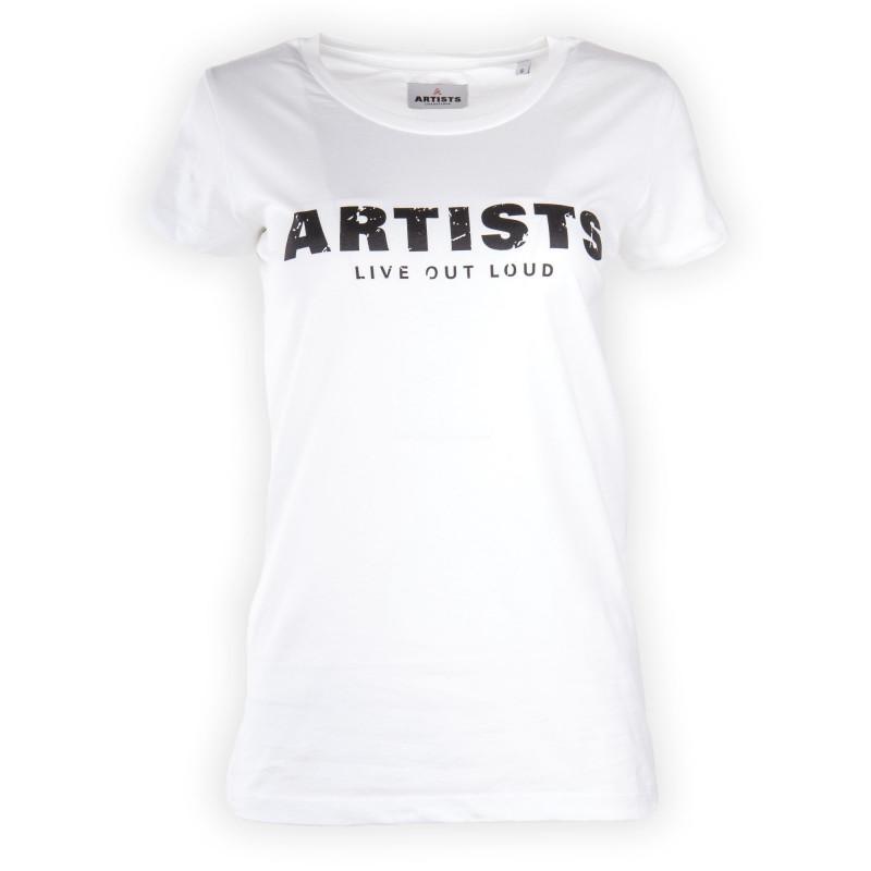 Tee shirt floqué LIVE OUT LOUD femme ARTISTS marque pas cher prix dégriffés destockage