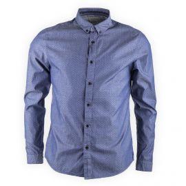 Chemise bleue imprimée manches longues homme CALVIN KLEIN marque pas cher prix dégriffés destockage
