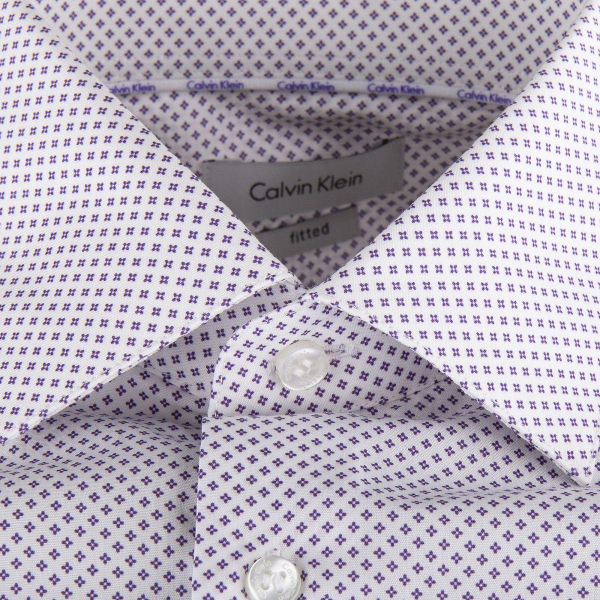 riche et magnifique vente officielle style populaire Chemise blanche imprimée homme CALVIN KLEIN à prix dégriffé !