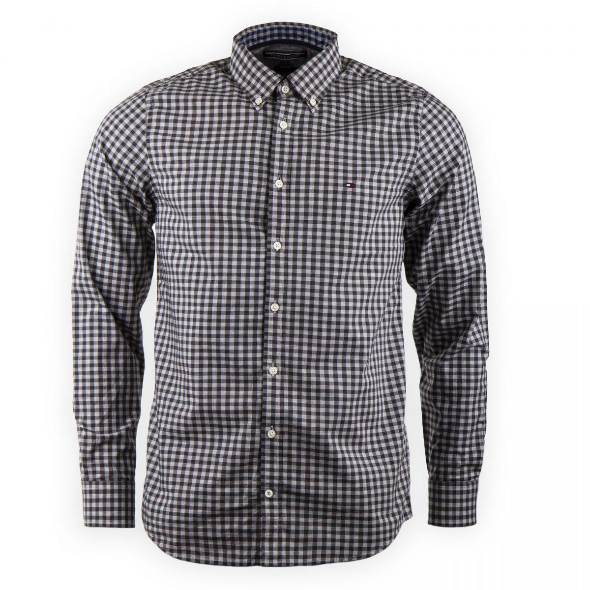 chemise grise carreaux homme tommy hilfiger prix. Black Bedroom Furniture Sets. Home Design Ideas
